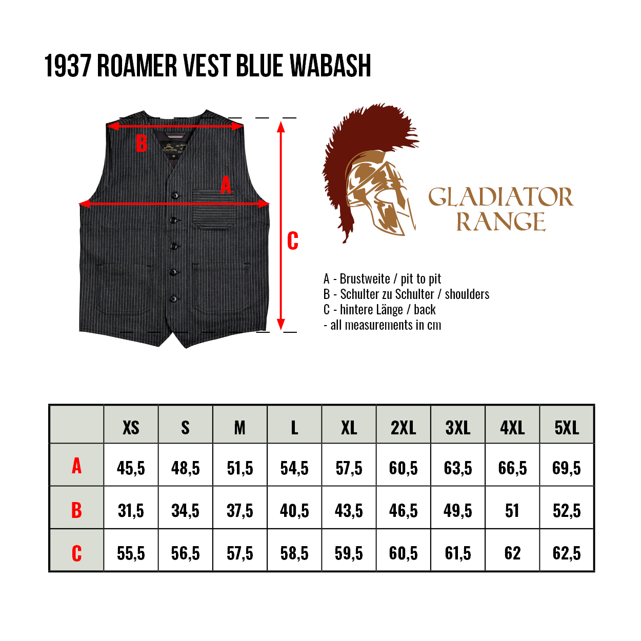 guide taille gilets pike brothers